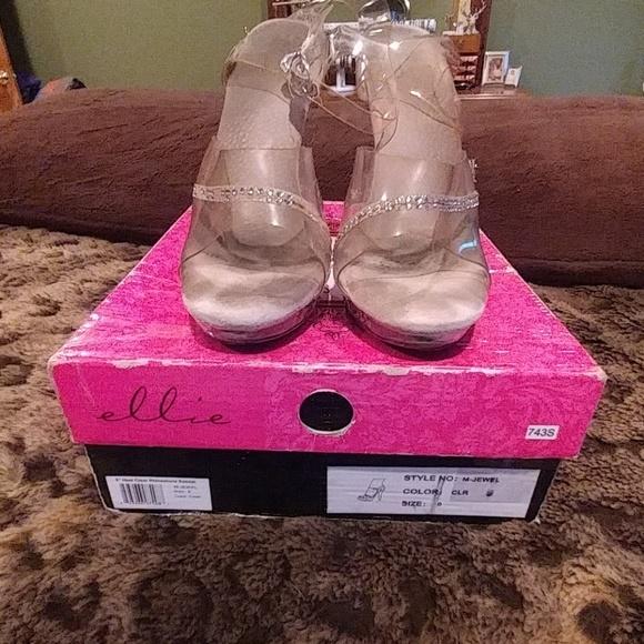 0970c0a5ee7 Ellie Shoes - Ellie 5 in Heel Clear Rhinestone Sandals